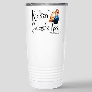 Kickin' Cancer's Ass! Stainless Steel Travel Mug