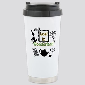 Lost in Wonderland Stainless Steel Travel Mug
