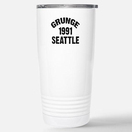 SEATTLE 1991 GRUNGE Stainless Steel Travel Mug