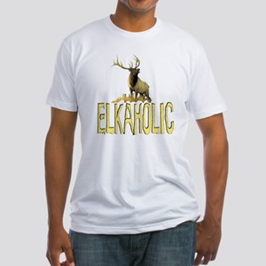 Elkaholic gear and gifts Fitted T-Shirt