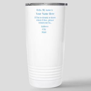 Drinking Shirt Stainless Steel Travel Mug