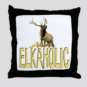 Elkaholic gear and gifts  Throw Pillow