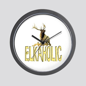 Elkaholic gear and gifts  Wall Clock