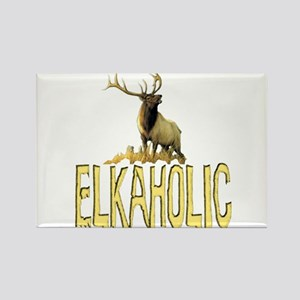 Elkaholic gear and gifts Rectangle Magnet