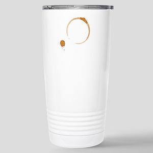Coffee Stain Stainless Steel Travel Mug
