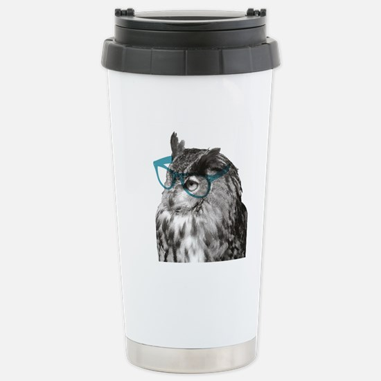 Hipster Bird (portrait) Stainless Steel Travel Mug