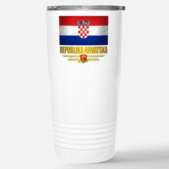 Croatia (Flag 10).png Stainless Steel Travel Mug