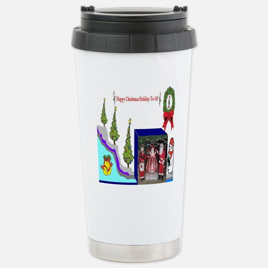 Happy Christmas Santa Stainless Steel Travel Mug