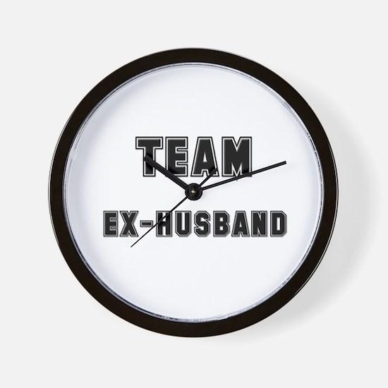 TEAM EX-HUSBAND Wall Clock