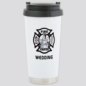 Firefighter Wedding Cake Stainless Steel Travel Mu