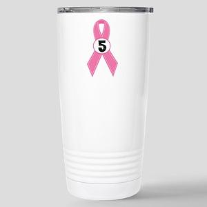 Breast Cancer 5 Year Survivor Stainless Steel Trav