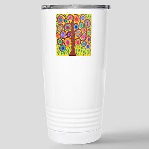 Yellow Tree of Life Stainless Steel Travel Mug