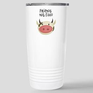 friends not food Stainless Steel Travel Mug