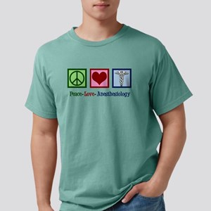 Anesthesiology Peace Lov Mens Comfort Colors Shirt