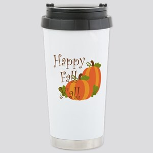 Happy Fall Y'all Stainless Steel Travel Mug
