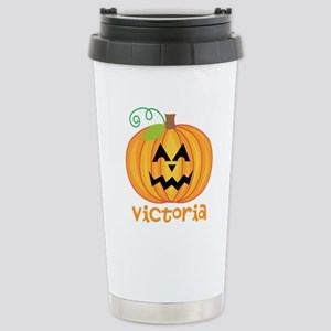 Personalized Halloween Pumpkin Stainless Steel Tra