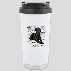 Black Lab Traits Stainless Steel Travel Mug