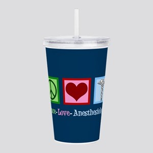 Anesthesiology Peace L Acrylic Double-wall Tumbler