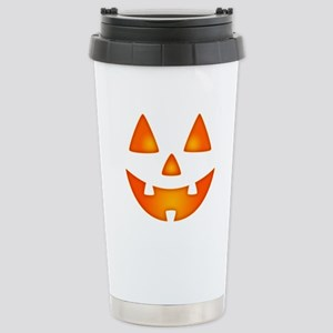 Happy Pumpkin Face Stainless Steel Travel Mug