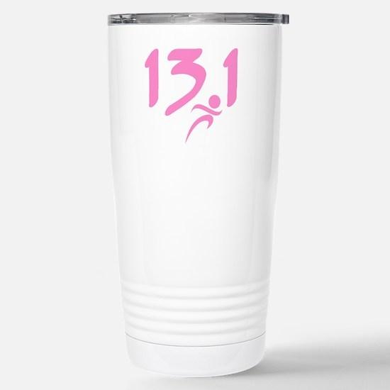Pink 13.1 half-marathon Stainless Steel Travel Mug