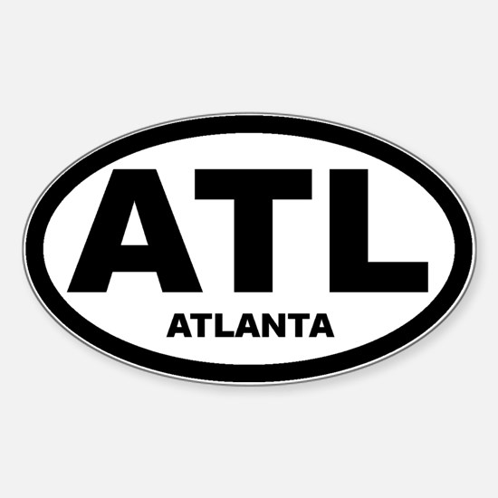 Atlanta Car Decal and Shirt Oval Decal