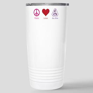 Peace, Love, BJJ 01 Stainless Steel Travel Mug