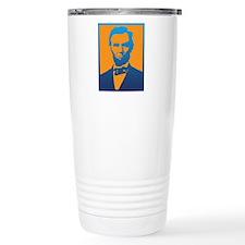 Abraham Lincoln Pop Art Stainless Steel Travel Mug