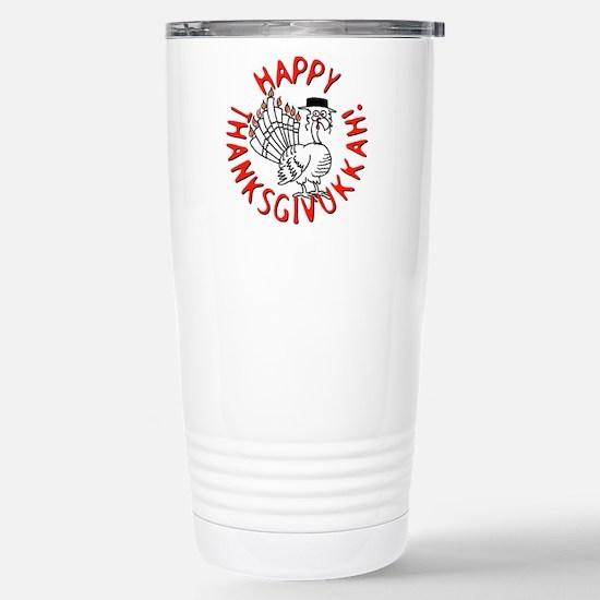 Happy Thanksgivukkah! Stainless Steel Travel Mug
