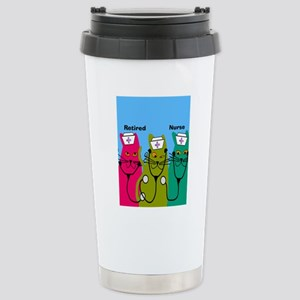 retired nurse ff 7 Stainless Steel Travel Mug