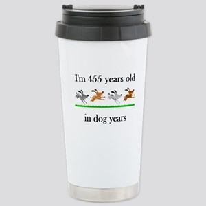 65 dog years birthday 1 Stainless Steel Travel Mug