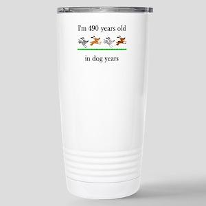70 birthday dog years 1 Stainless Steel Travel Mug