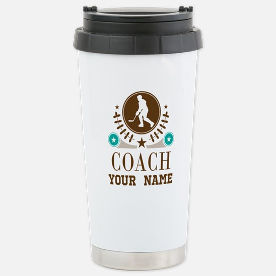 Ice Hockey Coach Personalized Stainless Steel Trav