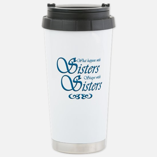 Sisters in Turquoise Stainless Steel Travel Mug