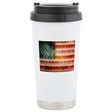 American Flag Abstract Stainless Steel Travel Mug