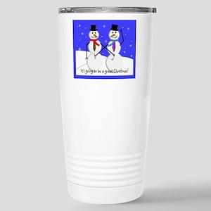 Gay Men Snowmen 2 Stainless Steel Travel Mug