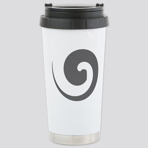 Grey Swirl Stainless Steel Travel Mug