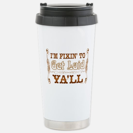 Get Laid Stainless Steel Travel Mug