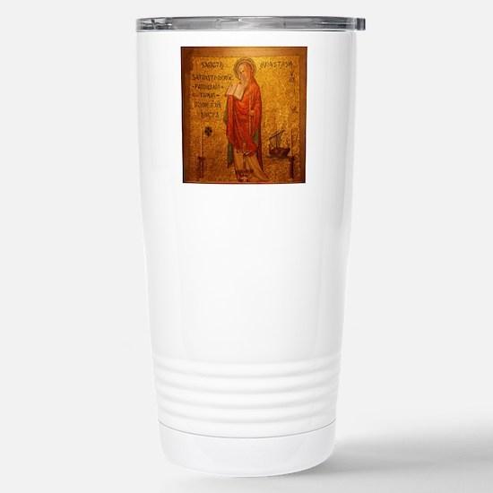 Saint Anastasia Stainless Steel Travel Mug