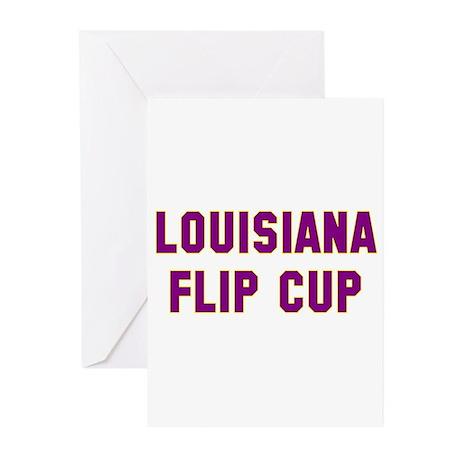 Louisiana Flip Cup Greeting Cards (Pk of 10)