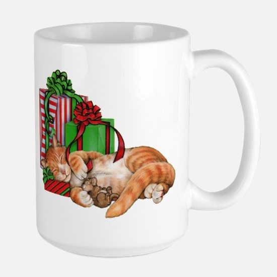 Cute Cat, Mouse and Christmas Presents Mugs