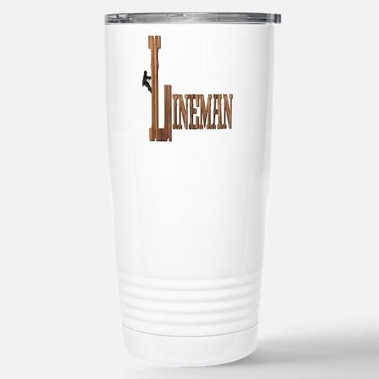 Lineman Wood Stainless Steel Travel Mug