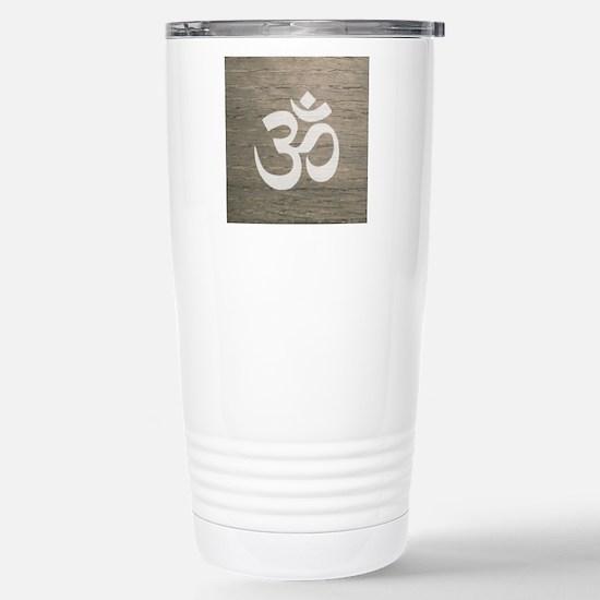 Namaste Yoga Symbol Stainless Steel Travel Mug