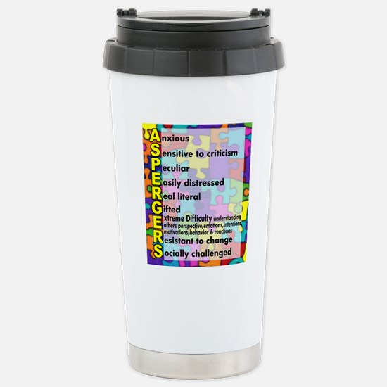 aspergers traits 3 copy Stainless Steel Travel Mug