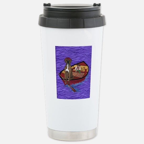 8 by 10 text Stainless Steel Travel Mug