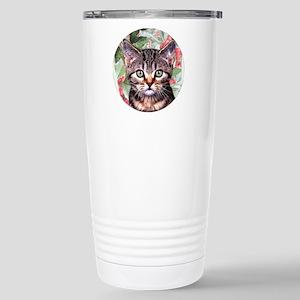 Holly - round - xmas or Stainless Steel Travel Mug