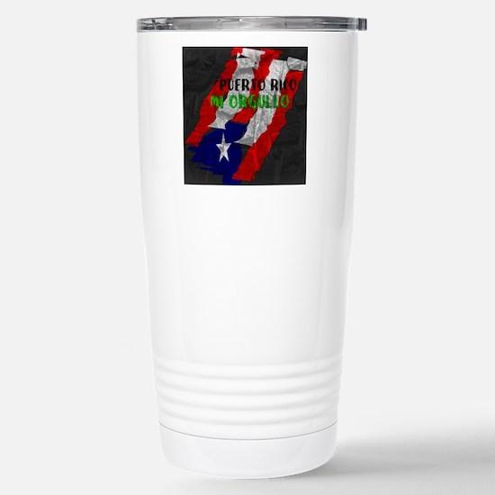 Puerto Rico, My Pride Stainless Steel Travel Mug