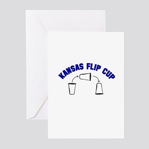 Kansas Flip Cup Greeting Cards (Pk of 10)