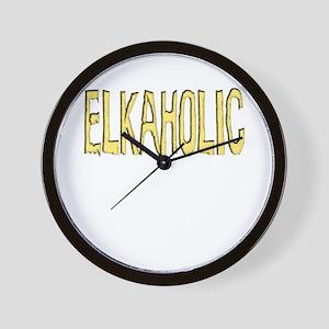 Elk aholic Wall Clock