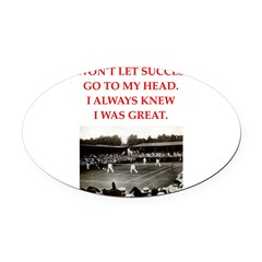 tennis Oval Car Magnet