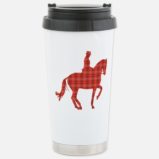 dressageredplaid Stainless Steel Travel Mug